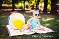 Vintage inspired summer baby photo shoot in Lewisville
