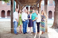 bright colorful outfits for a Grapevine family photo session