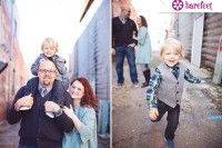 Rustic and vintage downtown family photo session